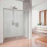 Душевая дверь в нишу Kubele DE019D4-MAT-MT 150 см, профиль матовый хром, фото 2