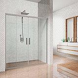 Душевая дверь в нишу Kubele DE019D4-CLN-MT 150 см, профиль матовый хром, фото 2