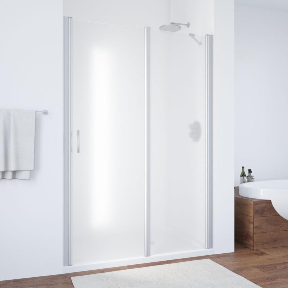 Душевая дверь в нишу Vegas Glass EP-F-1 135 07 10 R профиль матовый хром, стекло сатин