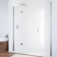 Душевая дверь в нишу Vegas Glass AFP-F 160 08 10 L профиль глянцевый хром, стекло сатин