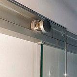 Душевая дверь в нишу Kubele DE019D4-CLN-MT 180 см, профиль матовый хром, фото 4