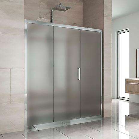 Душевая дверь в нишу Kubele DE019D3-MAT-CH 160 см, профиль хром