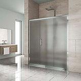 Душевая дверь в нишу Kubele DE019D3-MAT-CH 160 см, профиль хром, фото 2