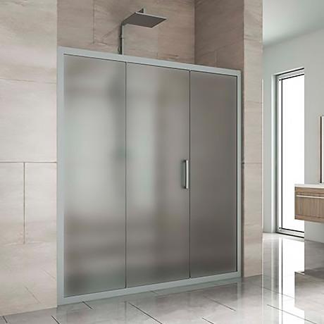 Душевая дверь в нишу Kubele DE019D3-MAT-MT 160 см, профиль матовый хром