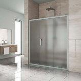 Душевая дверь в нишу Kubele DE019D3-MAT-MT 160 см, профиль матовый хром, фото 2