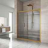 Душевая дверь в нишу Kubele DE019D3-CLN-BR 160 см, профиль бронза, фото 2
