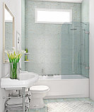 Шторка на ванну GuteWetter Trend Pearl GV-861A правая 80 см стекло бесцветное, фурнитура хром, фото 2