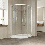 Душевой уголок Vegas Glass ZS-F 120*80 01 01 профиль белый, стекло прозрачное, фото 2