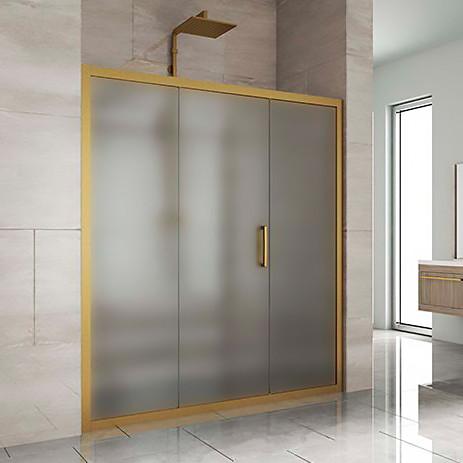 Душевая дверь в нишу Kubele DE019D3-MAT-BR 160 см, профиль бронза