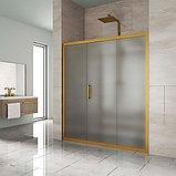 Душевая дверь в нишу Kubele DE019D3-MAT-BR 160 см, профиль бронза, фото 2
