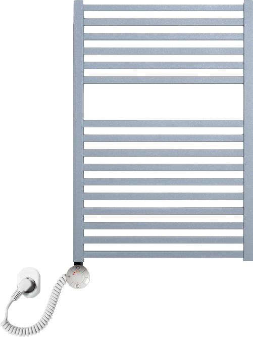 Полотенцесушитель электрический Luxrad Kwadro 066314 72х50 L, серый, терморегулятор selmo smart