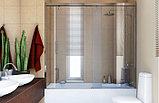 Шторка на ванну GuteWetter Slide Part GV-862 правая 170 см стекло бесцветное, профиль хром, фото 2