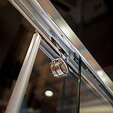 Шторка на ванну GuteWetter Slide Part GV-862 правая 170 см стекло бесцветное, профиль хром, фото 3