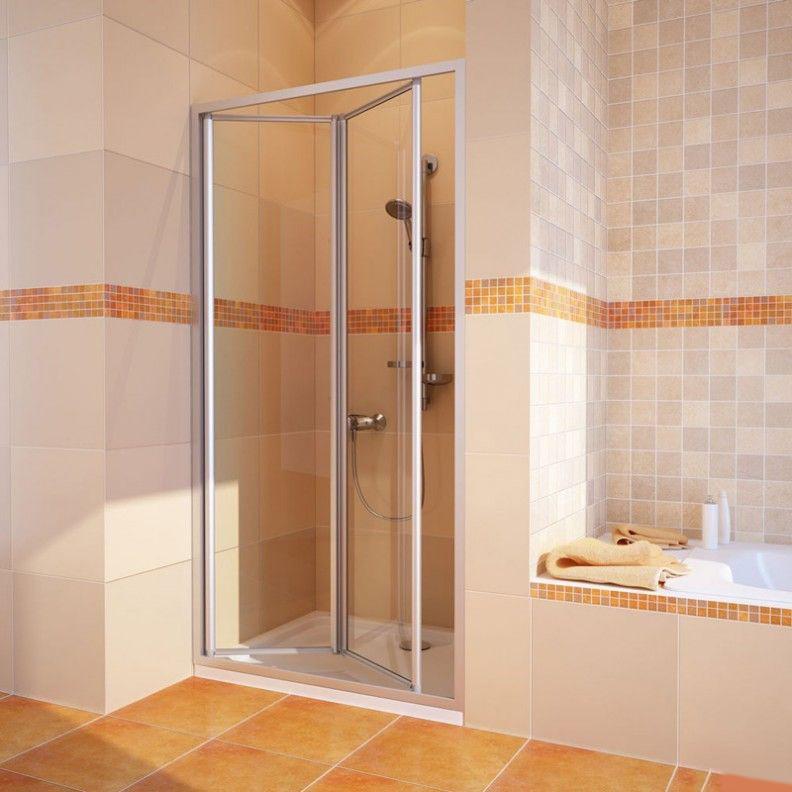 Душевая дверь в нишу GuteWetter Practic Door GK-404 левая (98-102)x190 стекло бесцветное, профиль мат. хром