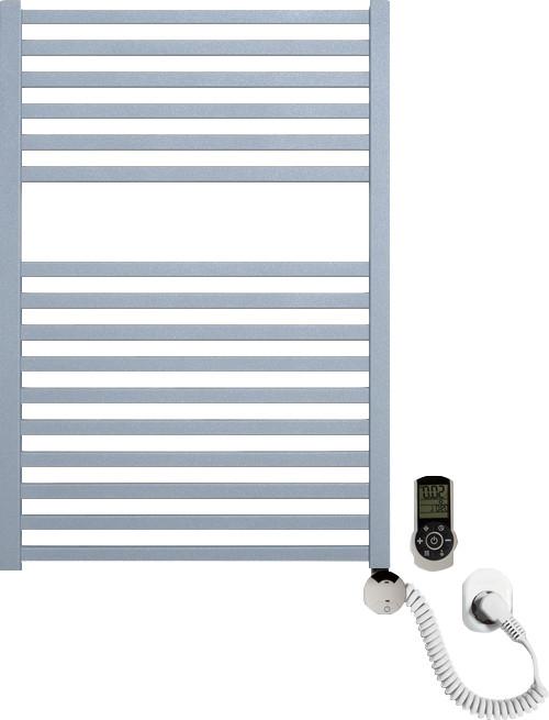 Полотенцесушитель электрический Luxrad Kwadro 066325 72х50 R, серый, терморегулятор selmo smart programm с