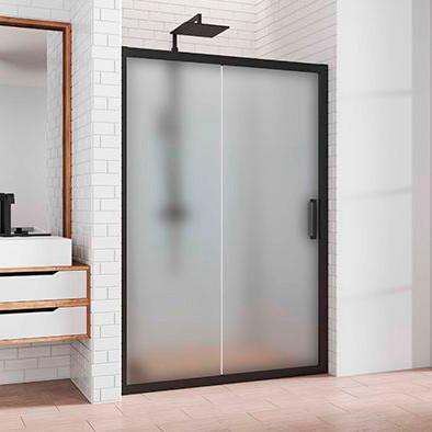 Душевая дверь в нишу Kubele DE019D2-MAT-BLMT 155 см, профиль матовый черный