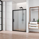 Душевая дверь в нишу Kubele DE019D2-MAT-BLMT 140 см, профиль матовый черный, фото 2
