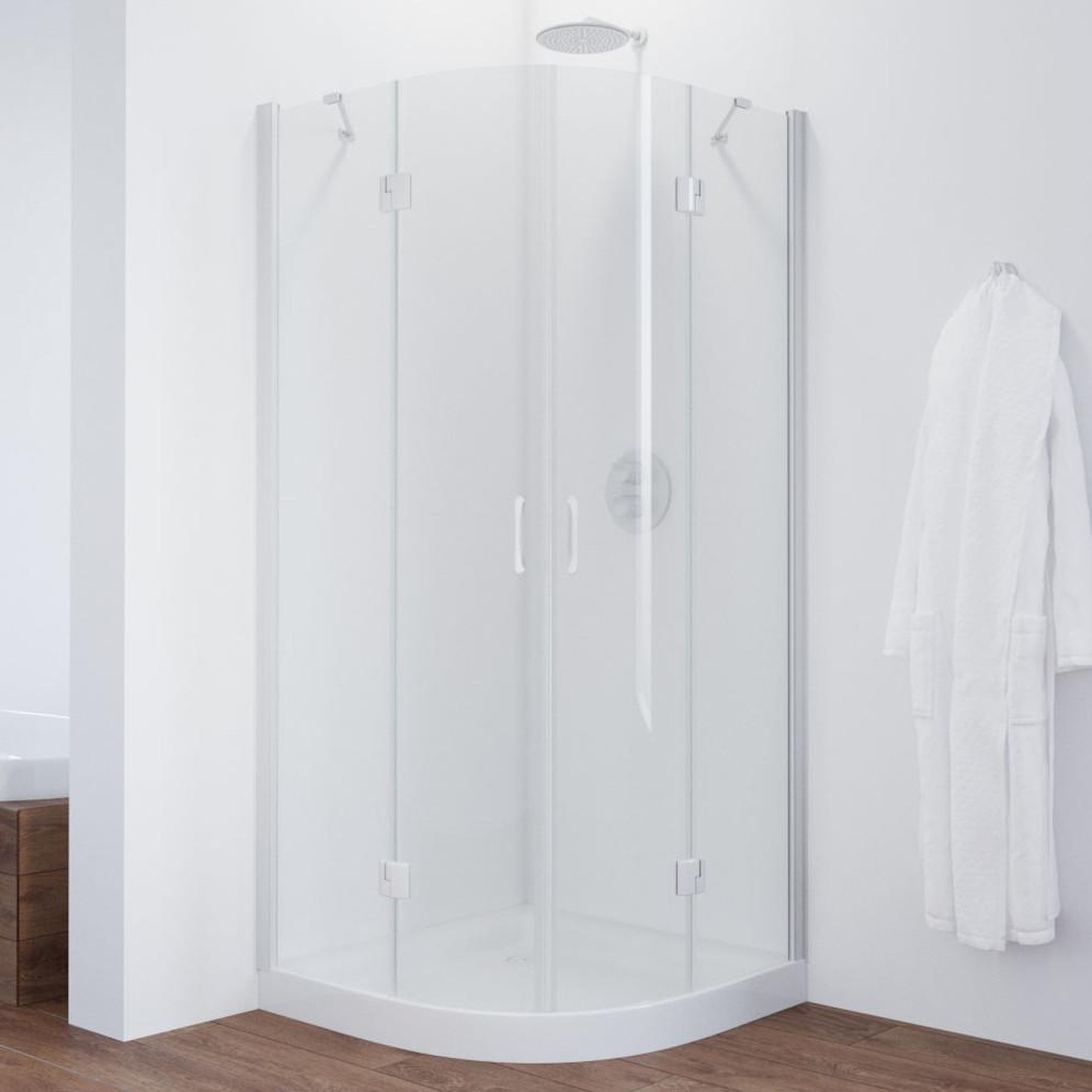 Душевой уголок Vegas Glass AFS 90 01 01 профиль белый, стекло прозрачное
