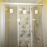 Душевая дверь в нишу GuteWetter Practic Door GK-403 133-137 см стекло бесцветное, профиль матовый хром, фото 3
