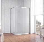 Душевой уголок Vegas Glass ZP+ZPV 120*90 07 10 профиль матовый хром, стекло сатин, фото 2