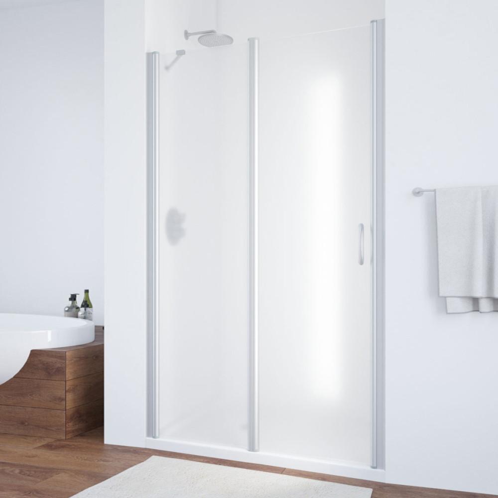 Душевая дверь в нишу Vegas Glass EP-F-1 100 07 10 L профиль матовый хром, стекло сатин