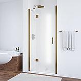 Душевая дверь в нишу Vegas Glass AFP 100 05 10 L профиль бронза, стекло сатин, фото 2