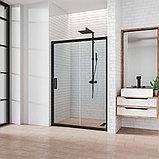 Душевая дверь в нишу Kubele DE019D2-CLN-BLMT 155 см, профиль матовый черный, фото 2