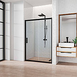 Душевая дверь в нишу Kubele DE019D2-CLN-BLMT 160 см, профиль матовый черный, фото 2