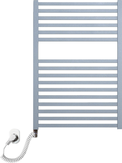 Полотенцесушитель электрический Luxrad Kwadro 066322 72х50 L, серый, терморегулятор selmo pad