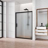 Душевая дверь в нишу Kubele DE019D2-MAT-BLMT 125 см, профиль матовый черный, фото 2