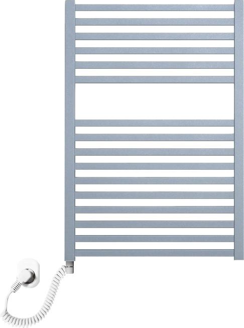 Полотенцесушитель электрический Luxrad Kwadro 066320 72х50 L, серый, терморегулятор selmo pad
