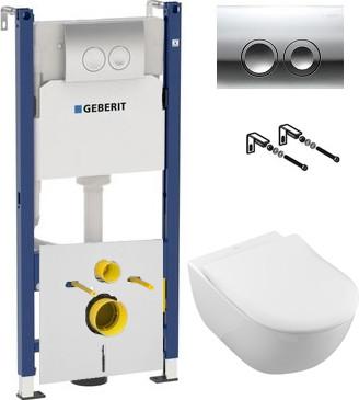 Комплект Унитаз подвесной Villeroy & Boch Subway 2.0 5614R201 alpin + Система инсталляции для унитазов Geberit