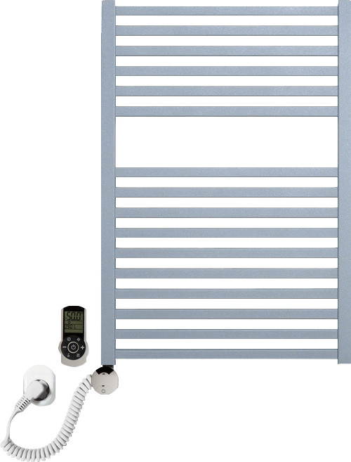 Полотенцесушитель электрический Luxrad Kwadro 066326 72х50 L, серый, терморегулятор selmo smart programm с
