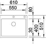Мойка кухонная Blanco Claron 550-IF/А клапан-автомат, фото 3