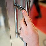 Душевая дверь в нишу GuteWetter Lux Door GK-601 левая 85 см стекло бесцветное, профиль хром, фото 2