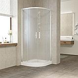 Душевой уголок Vegas Glass ZS 80 01 10 профиль белый, стекло сатин, фото 2