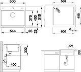 Мойка кухонная Blanco Etagon 6 черная, фото 3