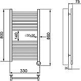 Полотенцесушитель электрический Ника Modern ЛМ-2 80/30 хром, фото 4