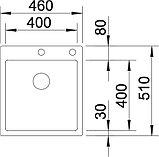 Мойка кухонная Blanco Claron 400-IF/А клапан-автомат, фото 3