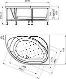 Акриловая ванна Radomir Мелани без гидромассажа, правая, фото 7