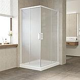 Душевой уголок Vegas Glass ZA-F 100*80 01 10 профиль белый, стекло сатин, фото 2
