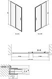 Душевая дверь в нишу Polysan Easy line EL1215 120 см, фото 3
