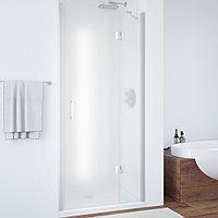 Душевая дверь в нишу Vegas Glass AFP 100 07 10 R профиль матовый хром, стекло сатин