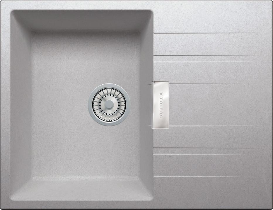 Мойка кухонная Tolero TL-650 cерый металлик