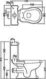Унитаз-компакт Kerasan Retro 101301 горизонтальный выпуск, фото 5