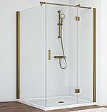 Душевой уголок Vegas Glass AFP-Fis 100*110 05 01 R профиль бронза, стекло прозрачное, фото 2