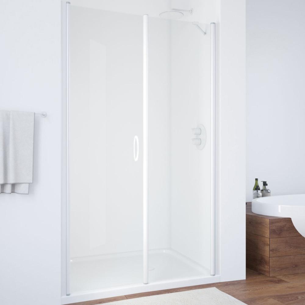 Душевая дверь в нишу Vegas Glass EP-F-2 115 01 01 L профиль белый, стекло прозрачное