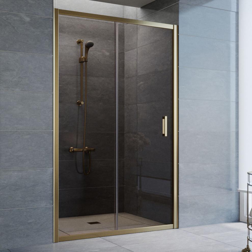 Душевая дверь в нишу Vegas Glass ZP 120 05 05 профиль бронза, стекло бронза