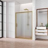 Душевая дверь в нишу Kubele DE019D2-MAT-BR 150 см, профиль бронза, фото 2