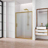 Душевая дверь в нишу Kubele DE019D2-MAT-BR 100 см, профиль бронза, фото 2